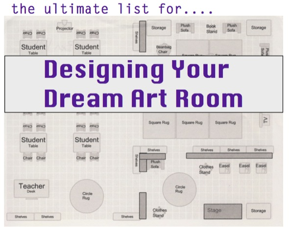 Designing your dream art room the art of ed for Art room decoration school