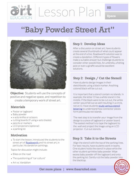 Baby Powder Street Art