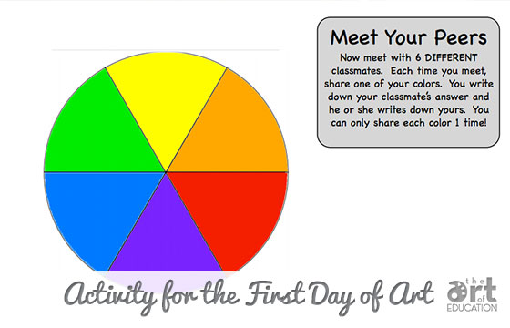Colorful Way to Get to Know Your Students
