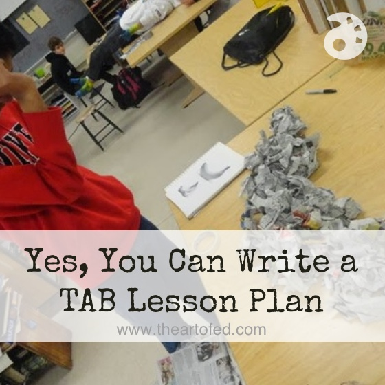 Yes, You Can Write A TAB Lesson Plan