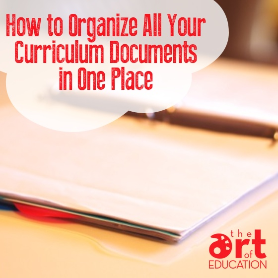 Organize Curriculum Documents