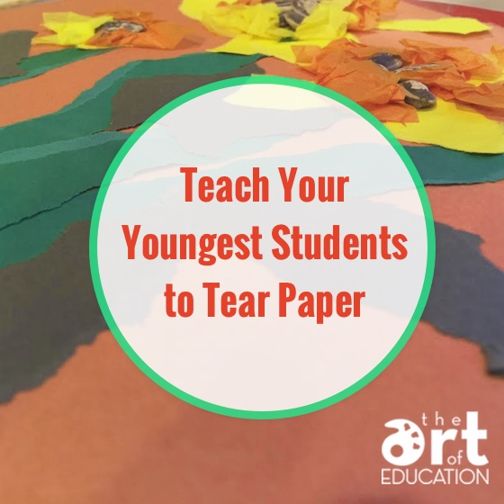 teach students to tear paper
