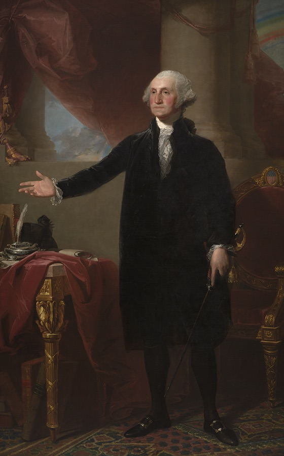 George Washington (Lansdowne Portrait) by Gilbert Stuart, Oil on canvas, 1796 National Portrait Gallery, Smithsonian Institution; acquired as a gift to the nation through the generosity of the Donald W. Reynolds Foundation