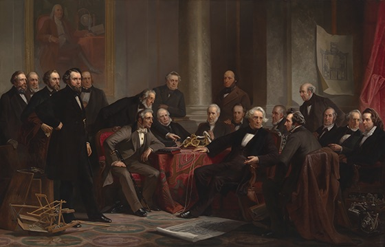 Men of Progress by Christian Schussele, Oil on canvas, 1862 National Portrait Gallery, Smithsonian Institution; gift of the A.W. Mellon Educational and Charitable Trust, 1942