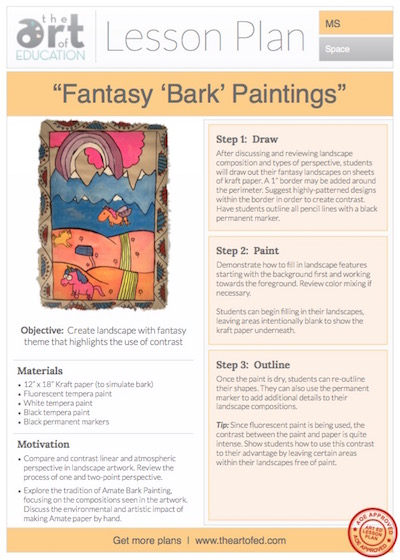 "Fantasy ""Bark"" Paintings: Free Lesson Plan Download - The ..."