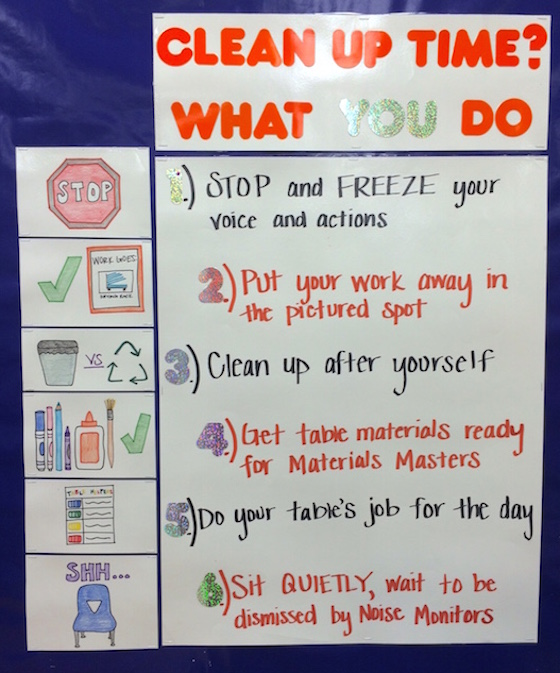 Elementary Classroom Procedures ~ Clean up
