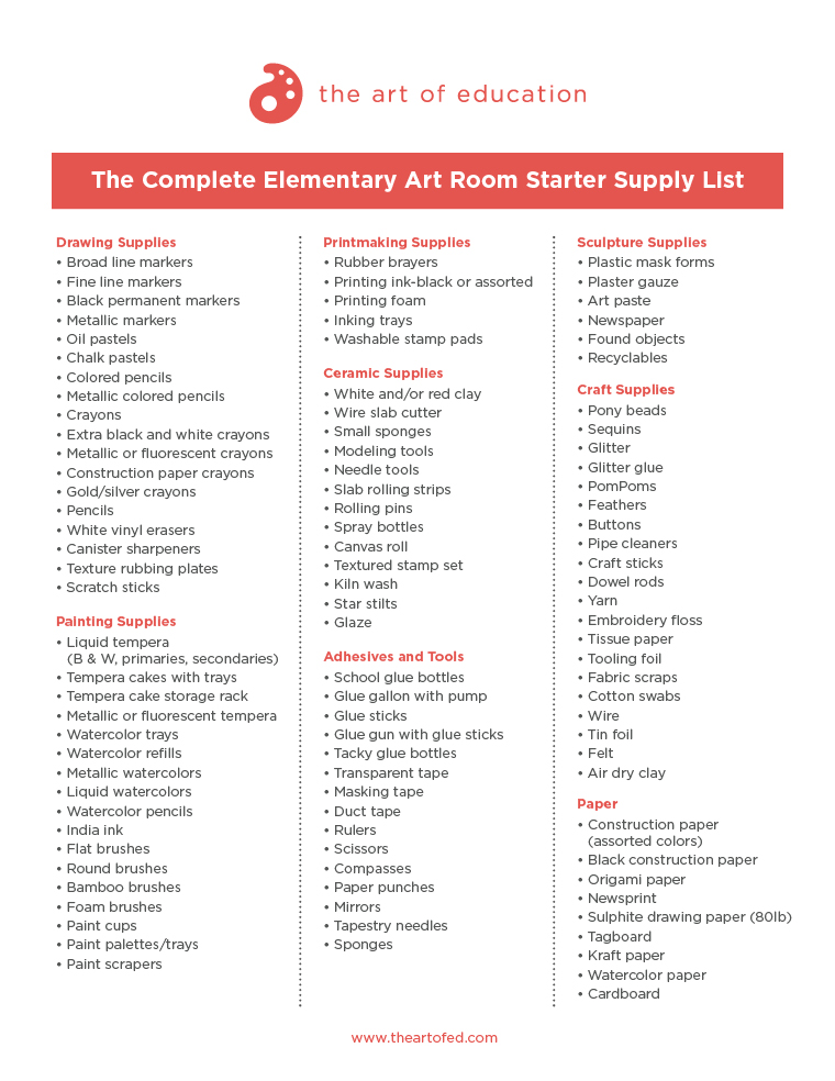 Download Elementary List  Inventory Supply List