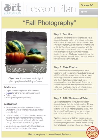 Photo essay lesson plan