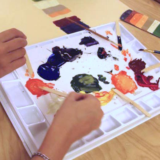 color mixing exercise