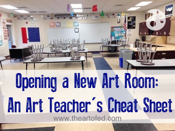 Opening a new art room an art teacher 39 s cheat sheet the for Art room decoration school