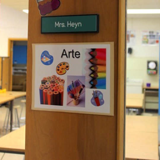 art room door