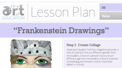 Frankenstein Drawings Lesson Plan