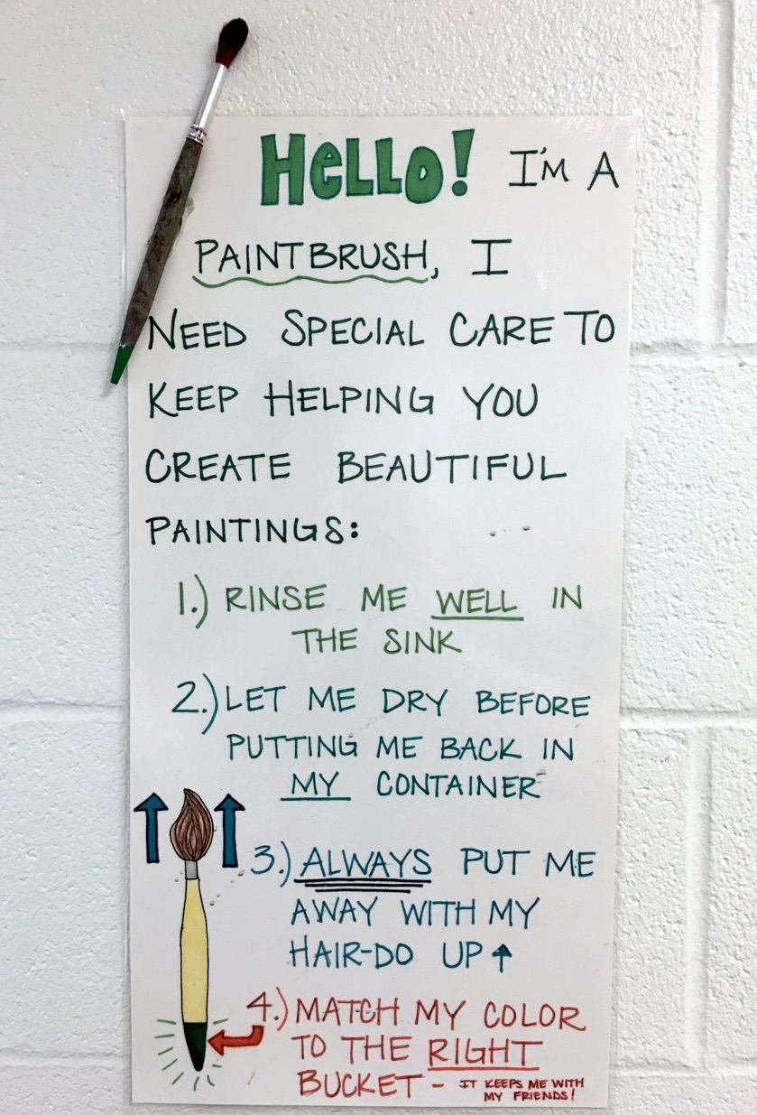 paintbrush cleaning poster