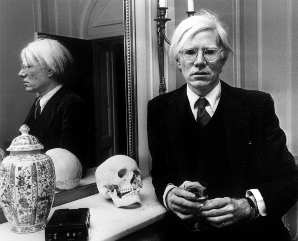 Andy Warhol with Skull