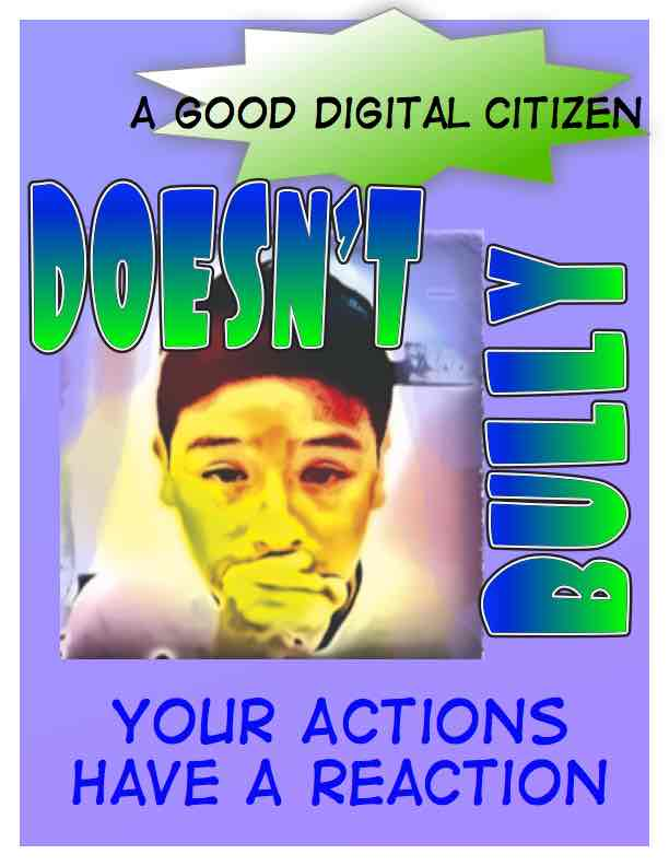 student-made poster describing what it means to be a good digital citizen