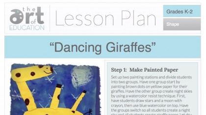 giraffe lesson plan