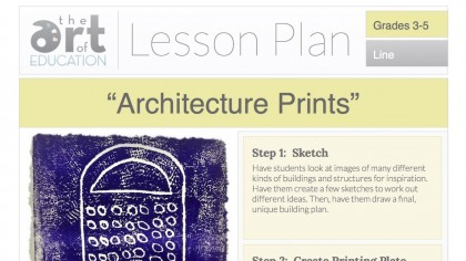 architecture prints lesson plan