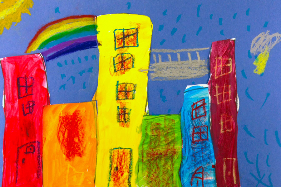 student example - rainbow city