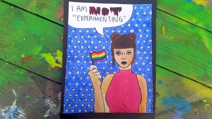 student artwork dealing with LGBT issues