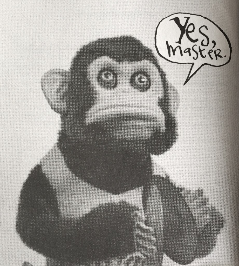 "monkey saying ""yes master"""