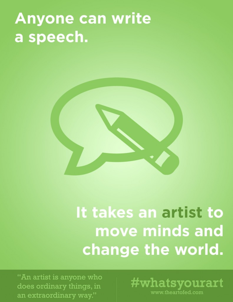 anyone can write a speech