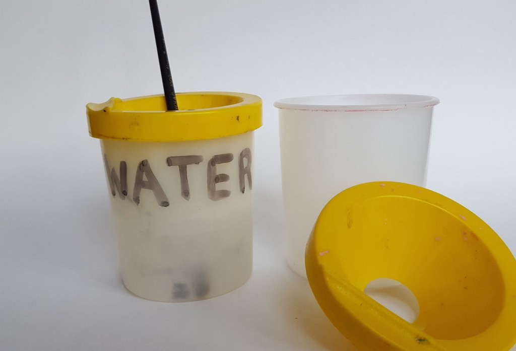 spill-proof water cups