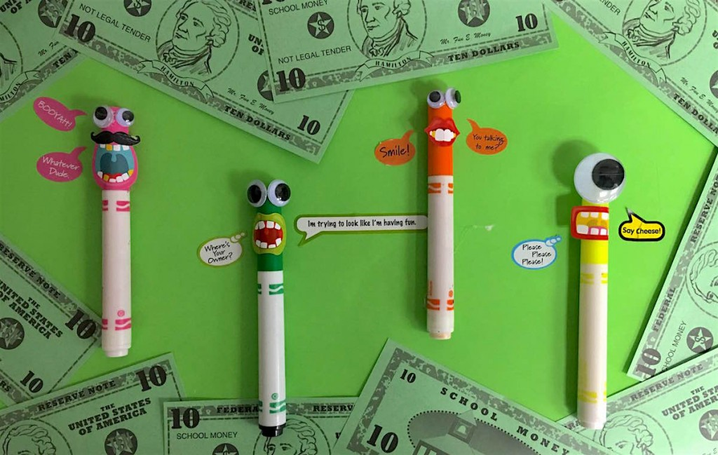 markers and money