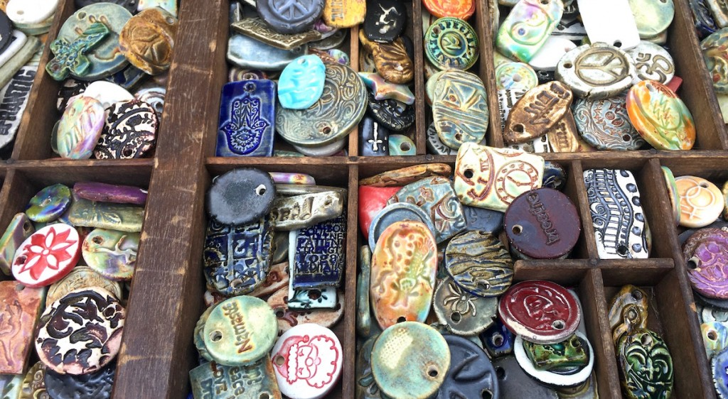 clay beads and pendants