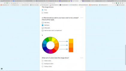 screenshot of google form