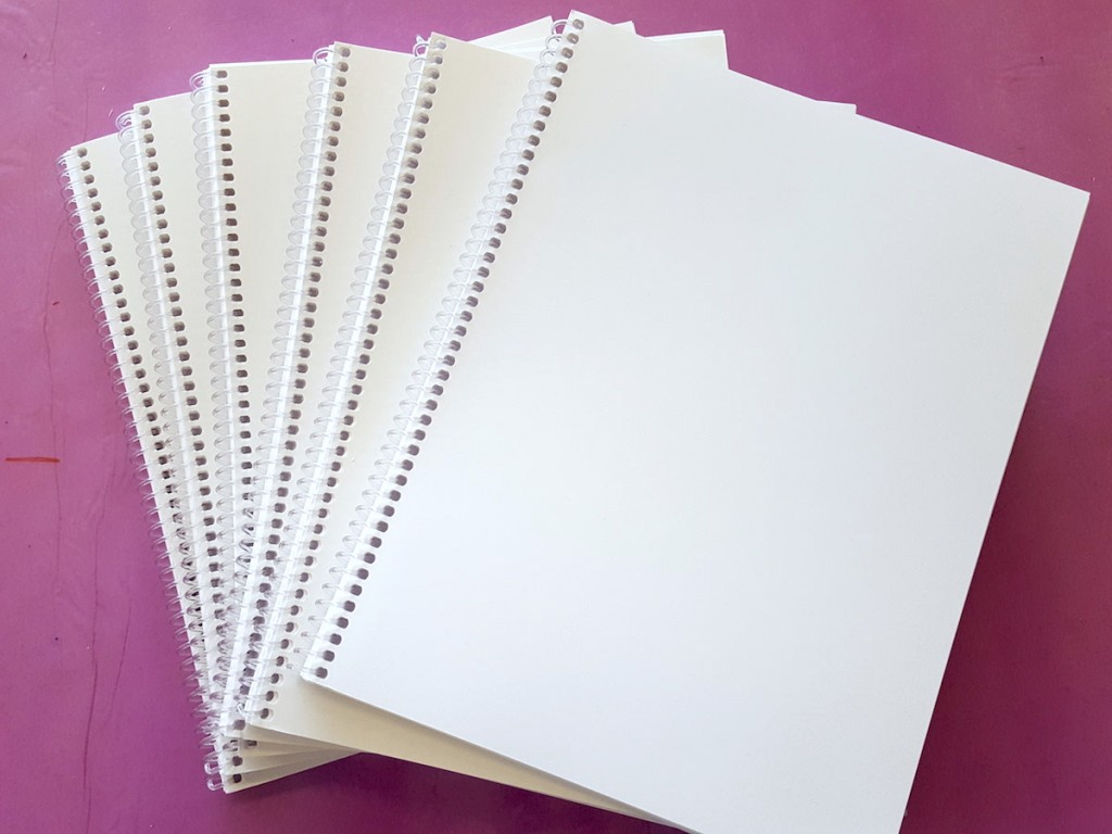 blank sketchbooks