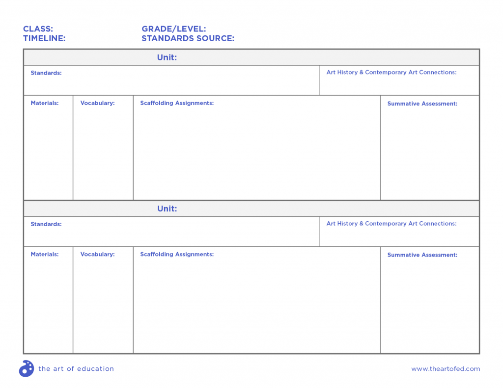 blank curriculum template