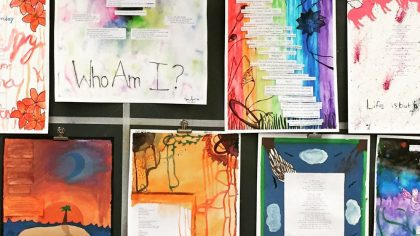 display of student work