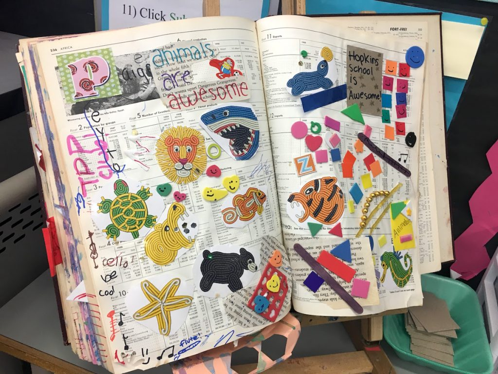 collaborative collage book