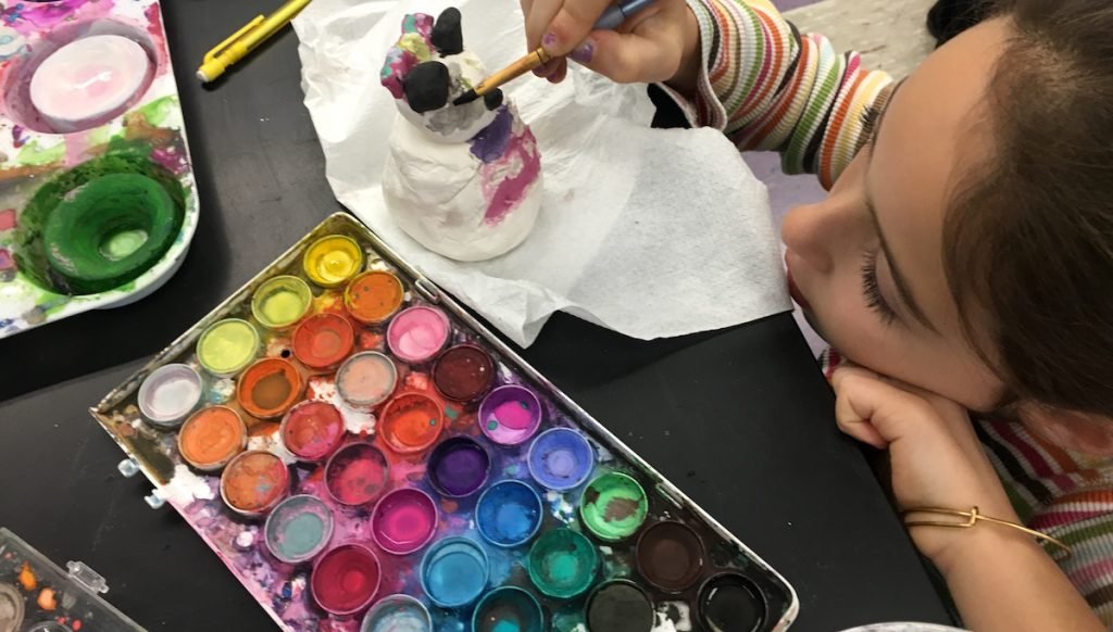adding color to clay