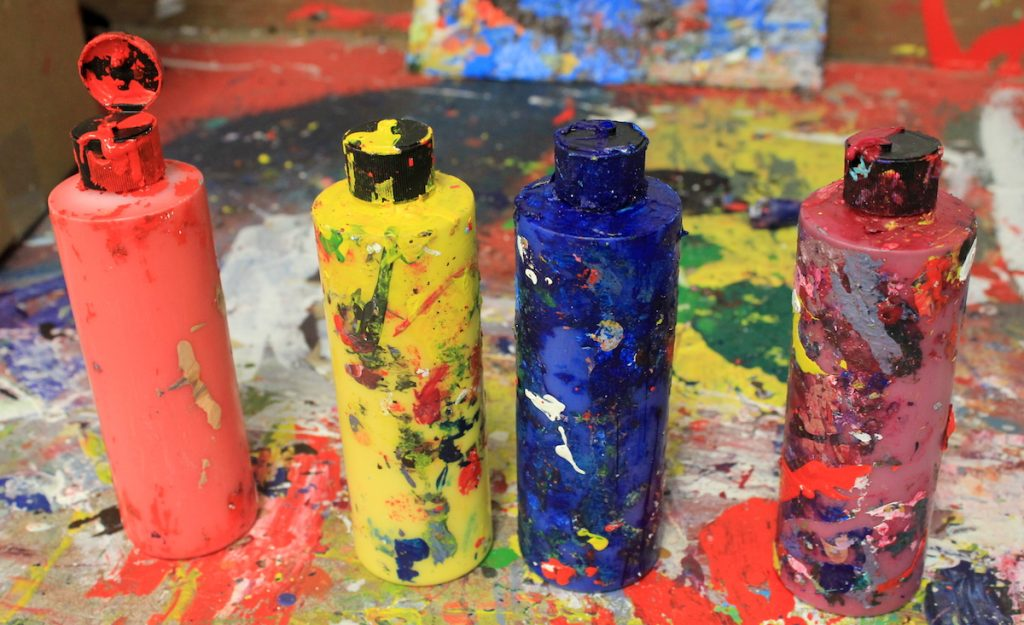 containers of paint