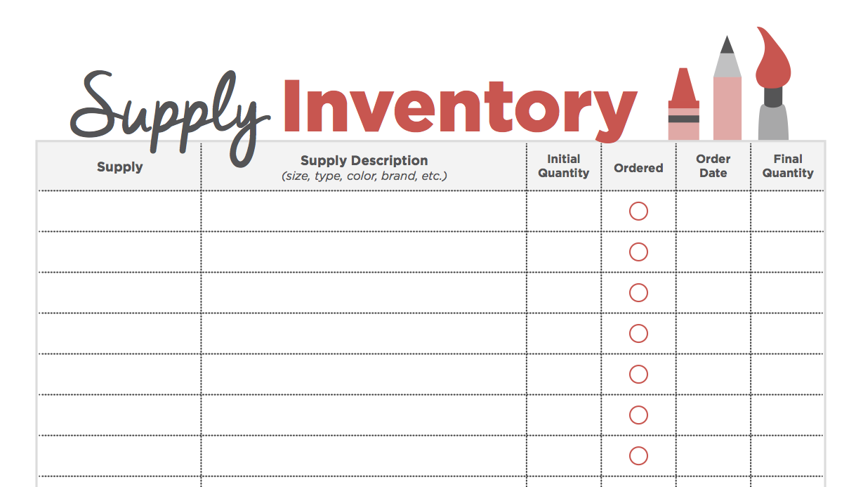 Save Hours On Your Next Order Form With This Handy Tool   The Art Of Ed  Inventory Supply List
