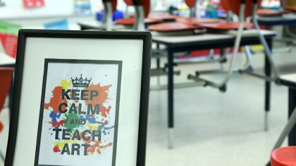 Keep Calm and Teach Art Poster
