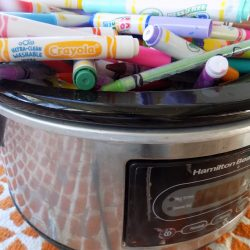 markers in a slow cooker