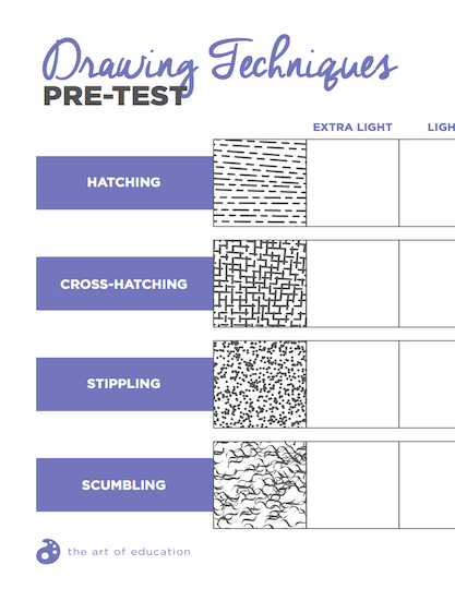 https://www.theartofed.com/content/uploads/2017/06/DrawingTechniquesPre-test-1.pdf