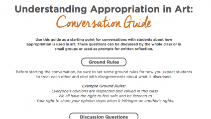 How to Deal with the Idea of Appropriation in the Art Room