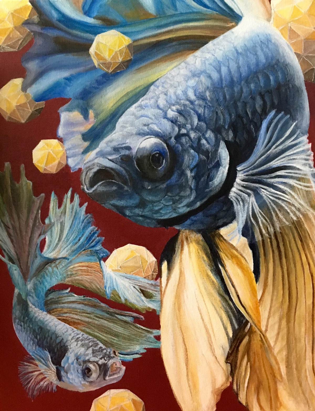 painting of fish