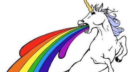 unicorn barfing