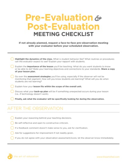 https://theartofeducation.edu/content/uploads/2018/02/10.2PreEvalPostEvalChecklist-1.pdf