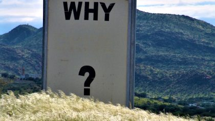 "Sign that says ""Why?"""