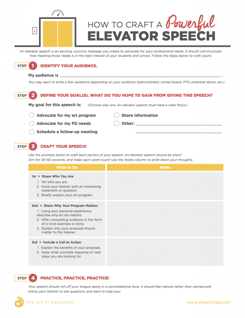 elevator speech download