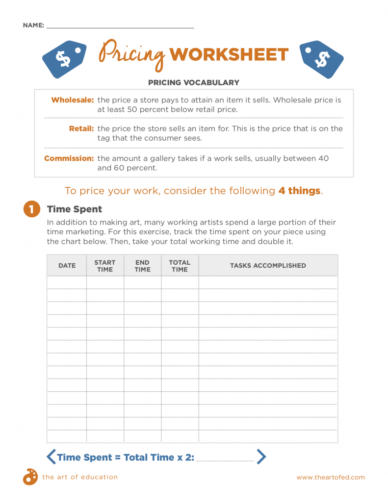 Pricing Worksheet