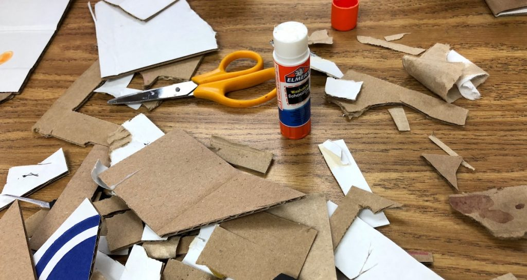 small cardboard pieces