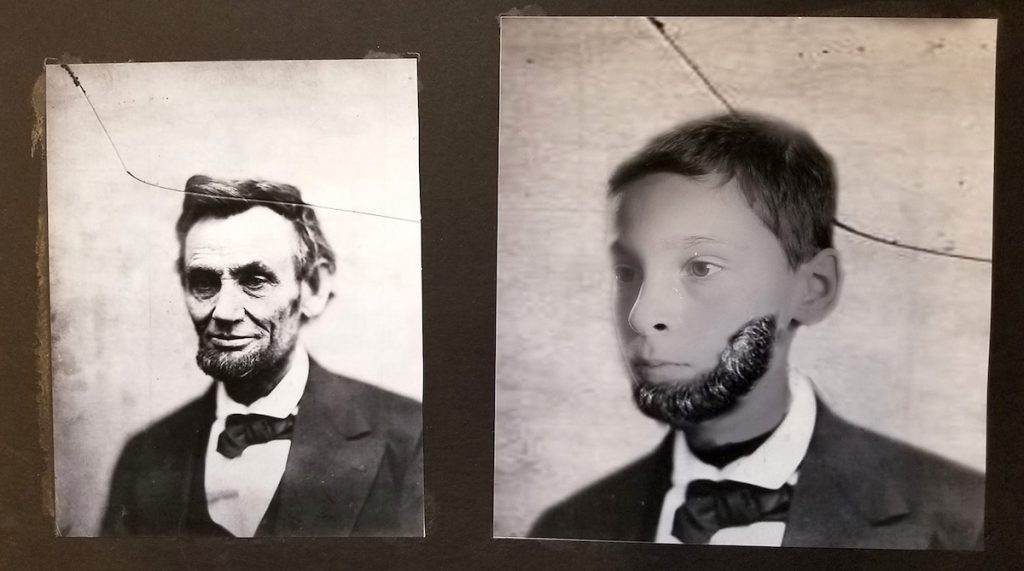 boy dressed as Abe Lincoln