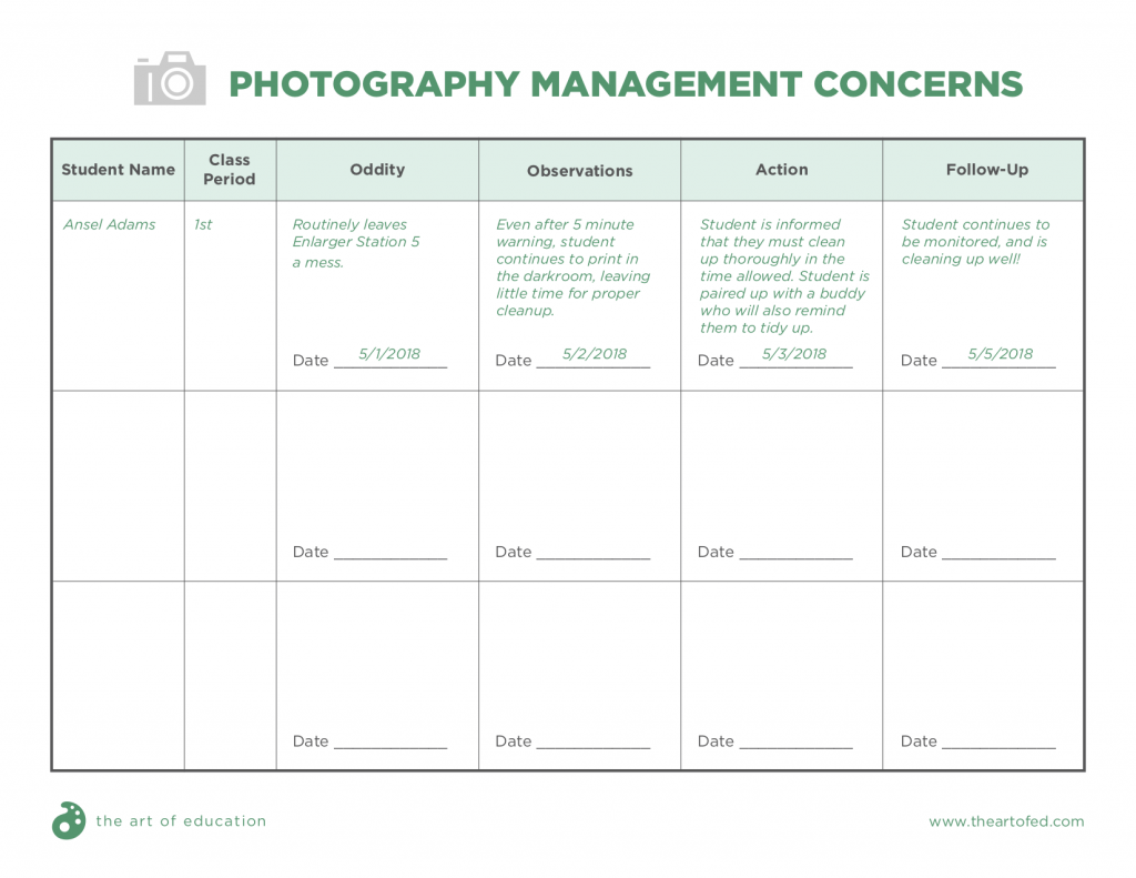 Photography Management Concerns