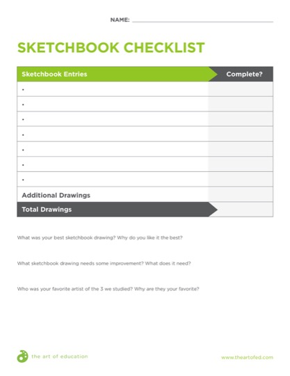 https://theartofeducation.edu/content/uploads/2018/04/SketchbookChecklist.pdf